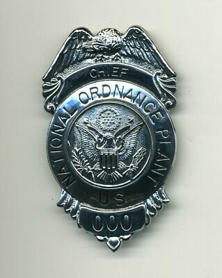 US National Ordnance Plant Chief badge - ammo munitions depot works