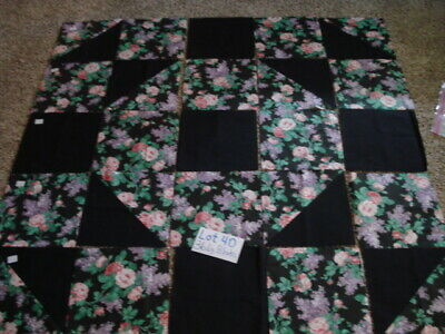 25 LARGE New Pressed Machine Sewn Quilt Squares  Lot  40