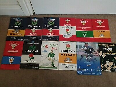 Collection x 12 Rugby Union Programmes 1982 -92 club/int England Scotland wales