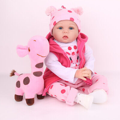 22'' Reborn Baby Dolls Lifelike Vinyl Silicone Newborn Girl Doll Gifts Kids Toy