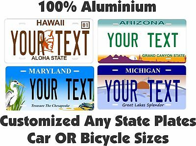 Custom License Plate Any State Personalized Auto Car Bike Bicycle Tag