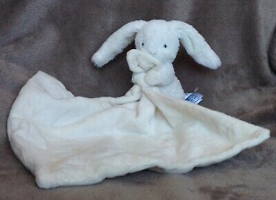 Mothercare Cream Cuddle Bunny Rabbit Baby Comforter Blankie Doudou Soft Toy UK