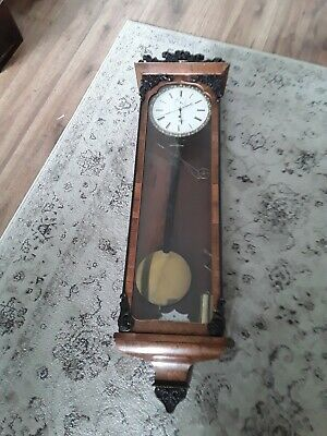 VERY RARE!!   BIEDERMEIER VIENNA  milk dial seconds hand  rare working