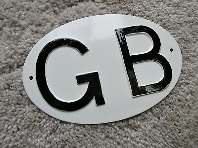 Vintage Gb Car Plate  Get Ready For Brexit