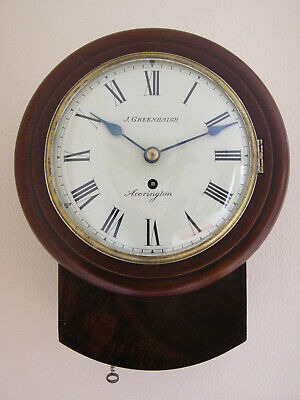 Small Fusee Convex Dial Clock by John Greenhalgh 1848-58