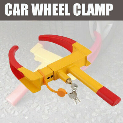 Heavy Duty Tyre Wheel Clamp Car Motorcycle Tire Anti-theft Security Lock + 3 Key
