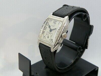 Elgin *Art Deco *  Serviced 1920`    Etched Men`s Watch...unequivocally Stunning