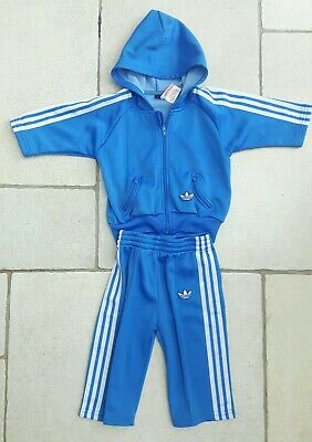 Adidas Originals Kids/Babies Boys/Girls Full Hooded Trefoil Tracksuit 3-6 Months