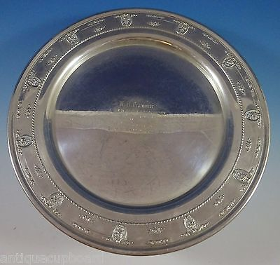 """Rose Point by Wallace Sterling Silver Tray Round 14"""" (#1145) Serving"""