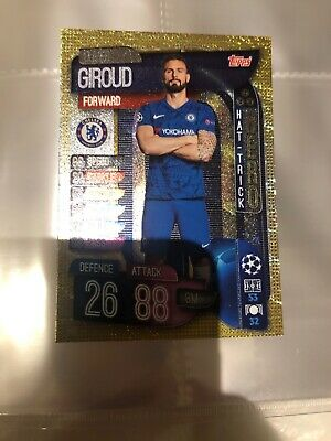 Match Attax 19/20 Champions / Europa League Giroud Hat-Trick Hero Card - Mint