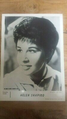 HELEN SHAPIRO, from TOP-TUNES Photo Album, Inset No22 1962 Belgian issue