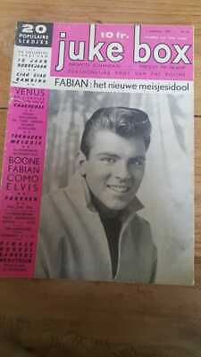 JUKE BOX No41 '59 Belgian Musicmagazine, Elvis, Avalon, Boone, Louis Armstrong