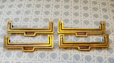 RARE Vintage Henredon Brass Long Drawer Pulls Recessed *Price is to purchase ONE