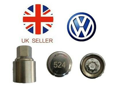 VW New Locking Wheel Nut Key With Letter D, code 524