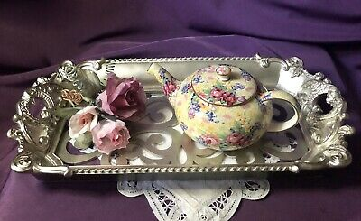 ~'~ Rare English ~ Royal Winton ~'~ Welbeck ~'~ Yellow Chintz ~ 1 Cup Teapot ~'~