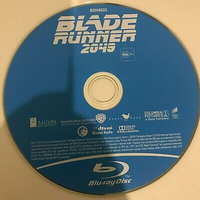 Blade Runner 2049 BLU RAY (2017 Ryan Gosling sci-fi movie) DISC ONLY , NO COVER