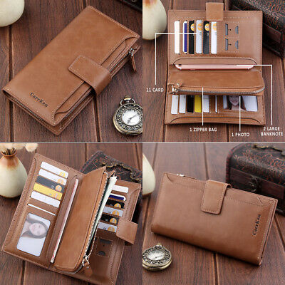 Women Leather Wallet Clutch Long Purse Large Capacity Card Phone Holder Handbag