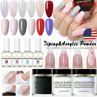 10ml BORN PRETTY Nail Art Dipping Powder Glitter Dip System Liquid Starter Kit