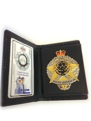 Security Badge SOUTH AUSTRALIA with Book Style Wallet