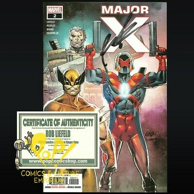 MAJOR X #2 Signed by ROB LIEFELD First 1st Print Variant MARVEL Comics NM!