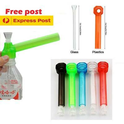 Portable Travel Bottle Bong Tobacco Pipe Screw Converter Water Smoking Hookah