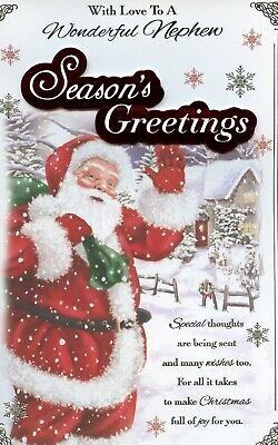 NEPHEW CHRISTMAS EXTRA LARGE CARD WITH LOVELY VERSES