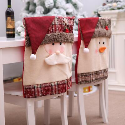 Christmas Chair Covers Dining Chair Covers Chair Back Cover Snowman Santa Claus