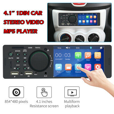 """NEW 4.1"""" Single DIN Car Stereo Radio MP5 touch Screen Player Bluetooth Remote"""