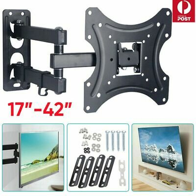 TV WALL MOUNT BRACKET LCD LED Plasma Flat Slim Pivot/Swivel Arms & Tilt 17-42''