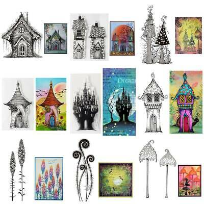 Fairy Castle Mushroom Silicone Clear Seal Stamp DIY Scrapbooking Embossing Album