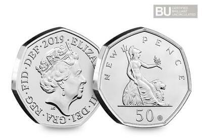 **IN HAND**50 Years of the 50p Anniversary Coin 2019with THREE special features