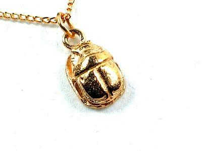 Egyptian Scarab, Handmade Gold Plated Pewter Pendant