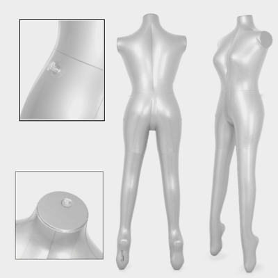 Inflatable Model Dummy Torso Body Female Mannequin Armless Display PVC Plastic
