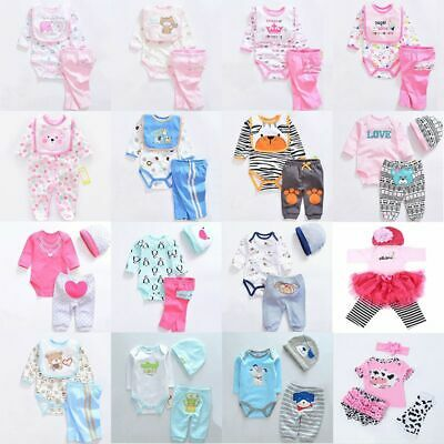 """Reborn Baby's Clothes One Set For 22-23"""" Baby Girl Doll Dress Outfits, Low Price"""