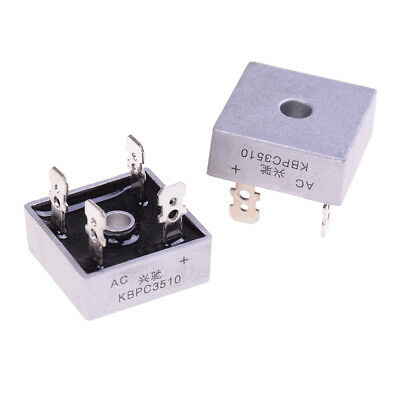 2Pcs bridge rectifier kbpc3510 amp metal case - 1000 volt 35a diode   TRFR