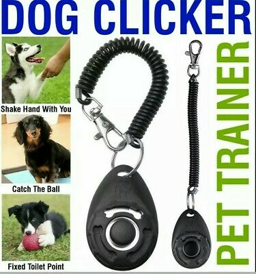 Dog Clicker Pet Training Clicker Trainer Teaching Tool For Dogs Puppy Best Gift