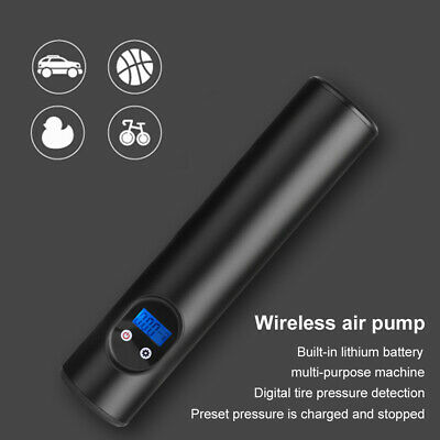 12V Portable Wireless Air Pump Air Electric Tire Inflator Car Bike Bicycle Auto~