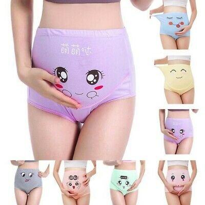 Cartoon Maternity Panties Women Pregnant High-waist Briefs Abdomen Underwear UK