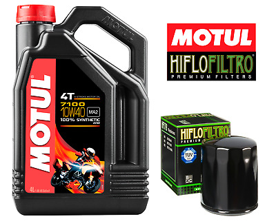 Motul 7100 4T 10W40  Motorcycle Engine Oil 10W-40 4 Litres 4L + Free Oil Filter