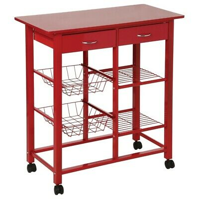 Kitchen Cart Rack 5five Simple Smart, Farbe rot