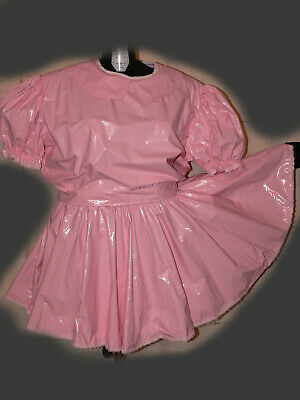 Y55*Adult Baby Sissy pvc dress Kleid
