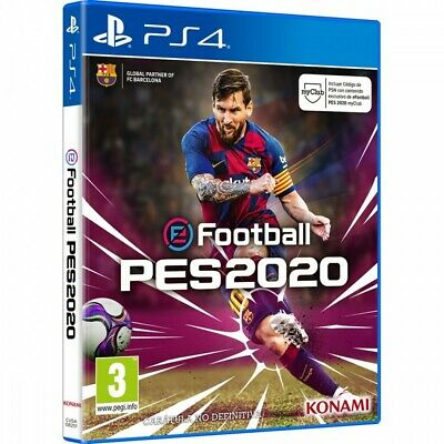 Pes 2020 Ps4 Efootball Pro Evolution Soccer Juego Físico Playstation 4 Konami