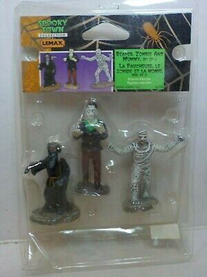 Lemax Spooky Town Reaper Zombie And Mummy #52136