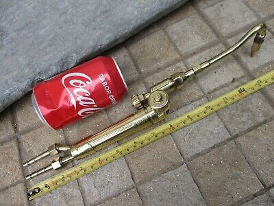Vintage Brass Oxygen Acetylene Beautiful Complete French Rare Torch With Tip