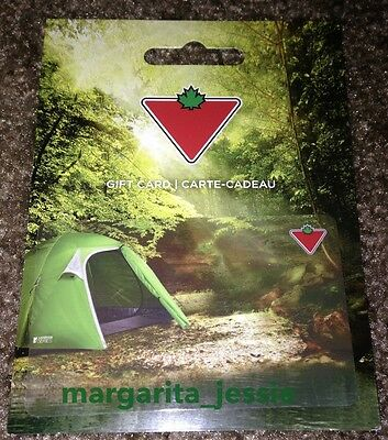 """Canadian Tire """"Camping Tent"""" 2016 Gift Card Collectible No Value New"""