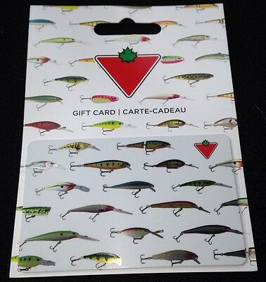 """Canadian Tire """"Colorful Fishing Lures"""" 2016 Gift Card Collectible No Value New"""