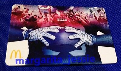 McDonald's BUFFALO BILLS NFL 2016 ARCH GIFT CARD Limited Edition NO VALUE NEW