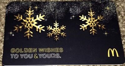 Mcdonald's Arch Gift Card Golden Wishes To You & Yours 2016 New