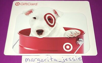 Target Die Cut Gift Card 2010 Bullseye Dog In Red Bucket No Value New