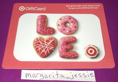 Target Gift Card Valentine's Day 2014  Love Donuts Collectible No Value New